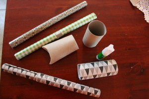 Dorullene kan pyntes med mønstret papir